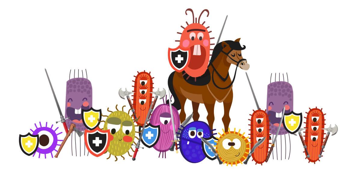 Walczące bakterie
