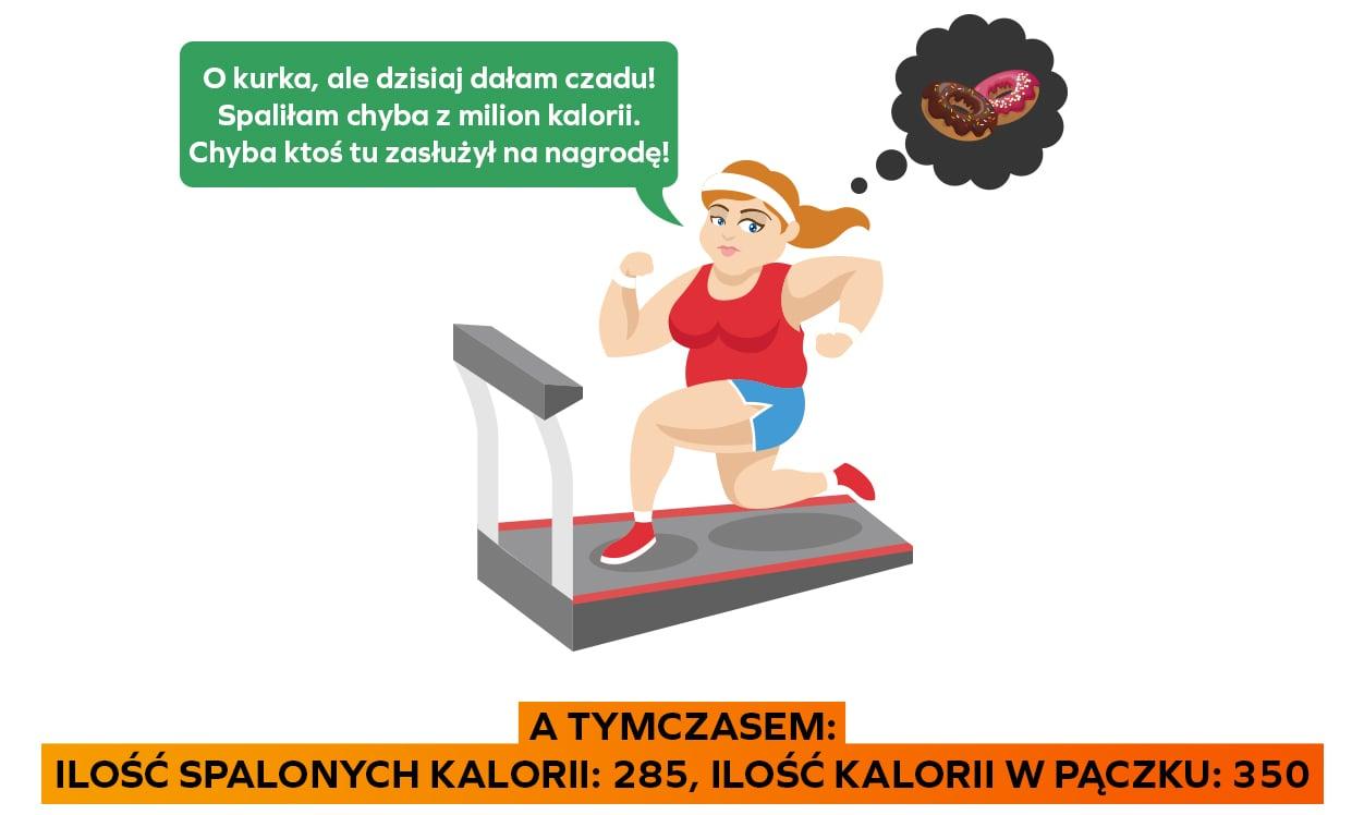 Kobieta ćwicząca na bieżni