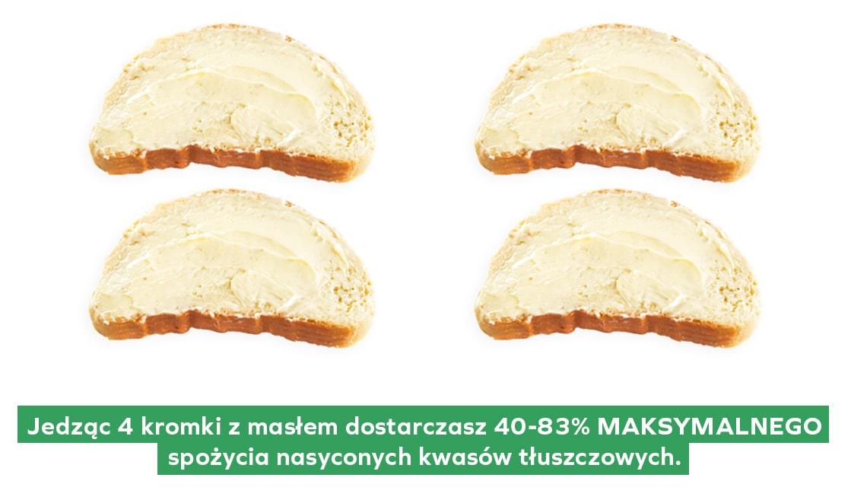 Kromki chleba posmarowane masłem