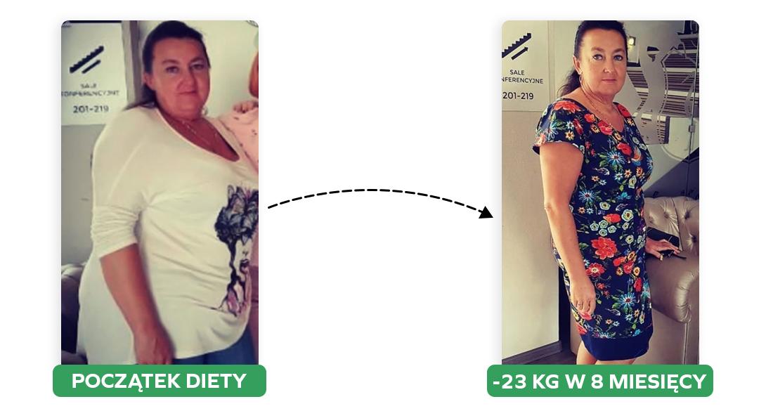 Przemiana 24 kg w 8 miesięcy